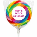 Rainbow Wedding Custom Lollipops