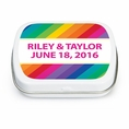 Rainbow Wedding Custom Mint Tins