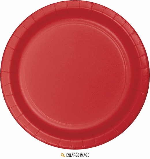 "Red 7"" Plates - 24 ct are sold 24 per package."