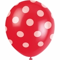 Red Classic Polka Dot Balloons