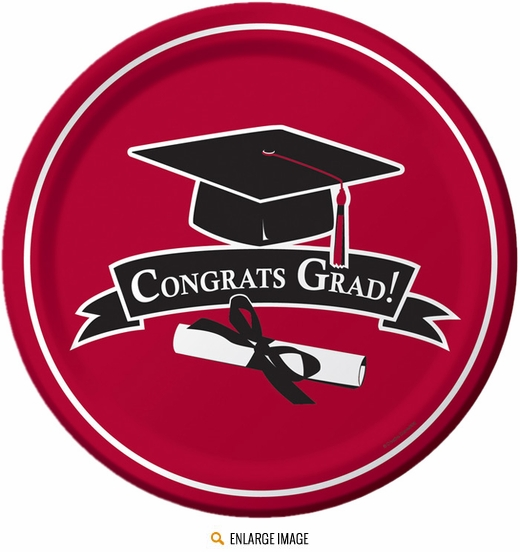 Class of 2015 Graduation Red Plates for the Grad