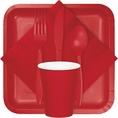 Classic Red Party Tableware