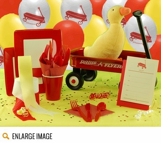 Red Wagon Baby Shower Kit