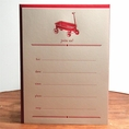 Red Wagon Invitation