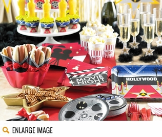 REEL Hollywood party supplies for a red carpet celebration.