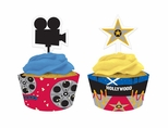 REEL Hollywood Cupcake Picks with Wrappers