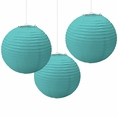 Robin's Egg Blue Paper Lanterns