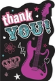 Rocker Princess Postcard Thank You