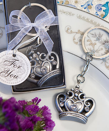 Royal Favor Collection Crown Design Key Ring Favors