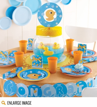 Rubber Ducky Baby Shower Supplies & Decorations