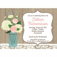 Rustic Bridal Shower Custom Invitation