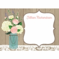Rustic Bridal Shower Custom Thank You Note