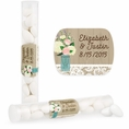Rustic Wedding Custom Candy Tubes