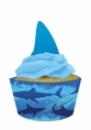 Shark Splash Cupcake Picks with Wrappers