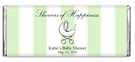 Showers Of Happiness Stripes Green Carriage Chocolate Bar
