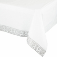Silver Damask Table Cover
