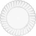 Silver Rimmed Clear Scalloped Cake Plates