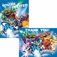 Skylanders Invitations and Thank You Note Set