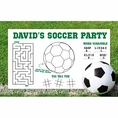 Soccer Custom Activity Placemats