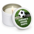Soccer Custom Candles