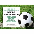 Soccer Custom Invitation