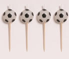 Soccer Molded Pick Candles