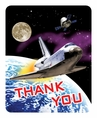 Space Odyssey Foldover Thank You Notes