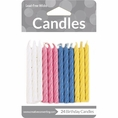 Spiral Assorted Color Birthday Candles