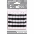 Striped Black & White Candles