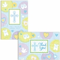 Sweet Blessing Blue Invitation & Thank You Note Set