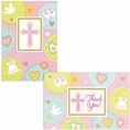 Sweet Blessing Pink Invitation & Thank You Note Set