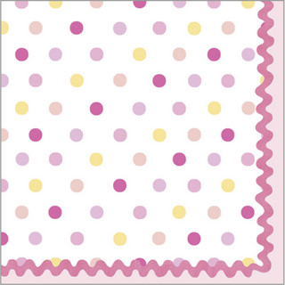 Tickled Pink Beverage Napkin