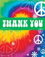 Tie Dye Fun Thank You Cards