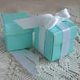 "Tiffany Blue 2"" Square Box & Ribbon - Set of 10"