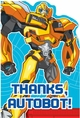 Transformers Prime Postcard Thank You