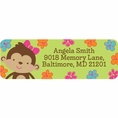 Tropical Monkey Baby Shower Custom Address Labels