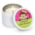 Tropical Monkey Baby Shower Custom Candles