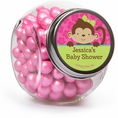 Tropical Monkey Baby Shower Custom Candy Jars