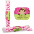 Tropical Monkey Baby Shower Custom Candy Tubes