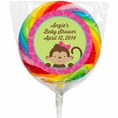 Tropical Monkey Baby Shower Custom Lollipops