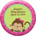 Tropical Monkey Baby Shower Custom Magnet