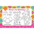 Tropical Monkey Custom Activity Placemats