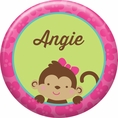 Tropical Monkey Custom Button