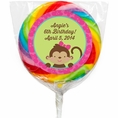 Tropical Monkey  Custom Lollipops