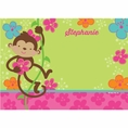 Tropical Monkey Custom Thank You Note