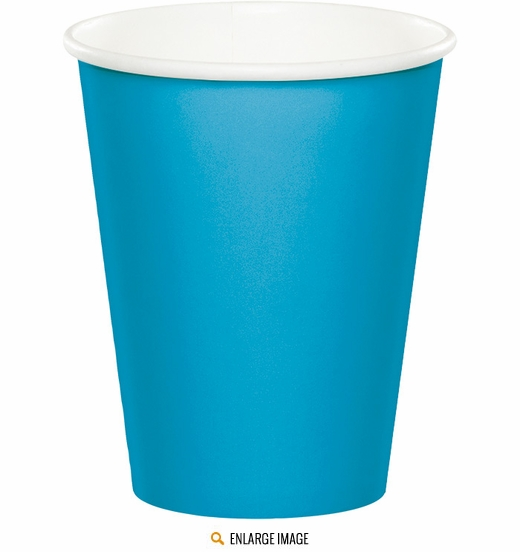 Turquoise 9 oz Cups - 24 ct are sold 24 per package.