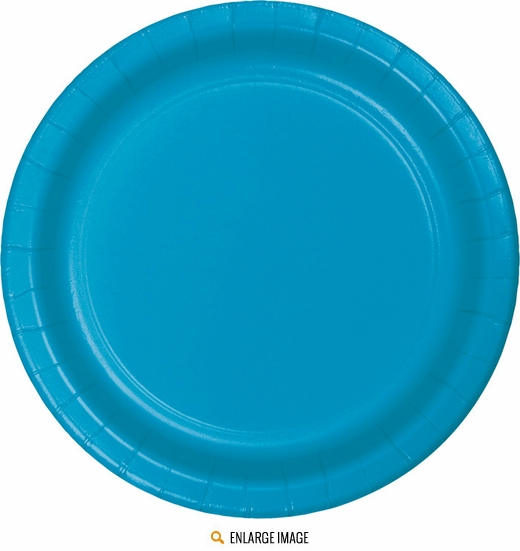 "Turquoise 9"" Plates - 24ct  are sold 24 per package."