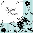 Two Love Birds Bridal Shower Luncheon Napkin