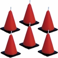 Under Construction Molded Construction Cone Candles