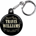 Vintage Dude Custom Birthday Keychain